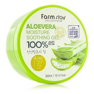 Гель для лица и тела Farm Stay Moisture Soothing Gel Aloe Vera, 300мл