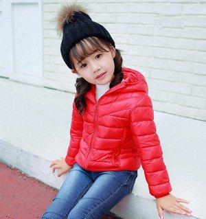 Ультралегкая детская куртка, цвет красный