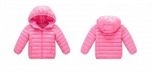 Демисезонная детская куртка, цвет нежно-розовый