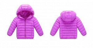 Демисезонная детская куртка, цвет сиреневый