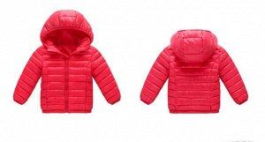 Демисезонная детская куртка, цвет красный