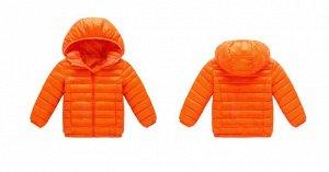 Демисезонная детская куртка, цвет оранжевый