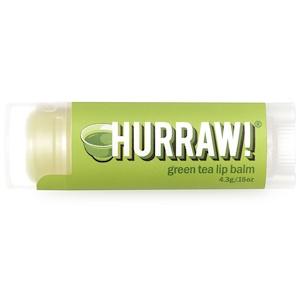 Hurraw! Balm, Бальзам для губ, зеленый чай, 0,15 унции (4,3 г)