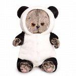 Басик Baby в комбинезоне Панда мягкая игрушка