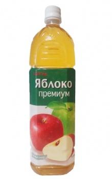 """Нектар Яблочный освет. 90% ТМ """"Lotte"""" 1,5л"""