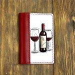 """Обложка на паспорт комбинированная """"Вино"""", красная"""