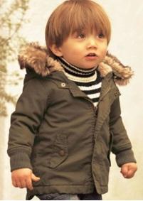 Теплая куртка с капюшоном Цвет: ТЕМНО-ЗЕЛЕНЫЙ