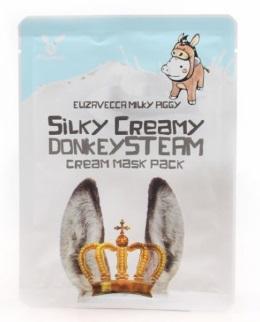 Маска Elizavecca Тканевая с паровым кремом на ослином молоке MILKY PIGGY Silky Creamy Donkey Steam Cream Mask Pack (Ю. Корея)