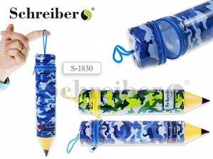 "Пенал-""карандаш"" пластиковый ХАКИ, 5х26 см"