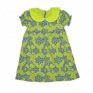 Платье Лёгкое летнее платье, имеет короткие рукава, чудесный дизайнерский воротник. Материал лёгкий и отлично дышит, одним словом весьма удобная и хорошая модель. Состав: 100% хлопок Ткань кулирка