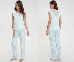 Комплект жен. (блузка и брюки) Ilena цветной