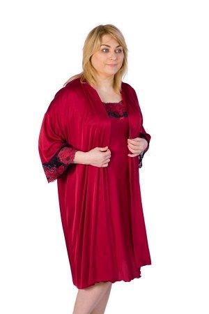 Халат Удлиненный халат прямого силуэта из армани-шелка.