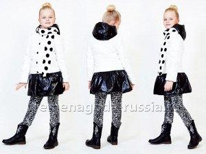 """Демисезонное детское пальто на пуху для девочки """"ОДРИ"""""""