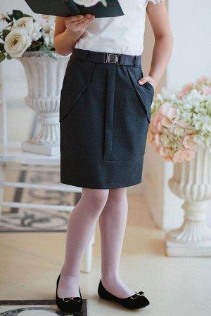 красивая серая юбка в школу