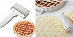Ролик для идеальной нарезки сеточки из теста на пироги, кулебяки, шарлотки, пиццу.