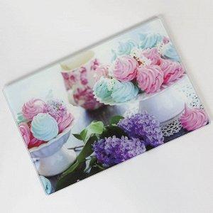 """RD0046-ST Доска разделочная стеклянная """"Мадам Безе"""" 20*30 см (24)"""