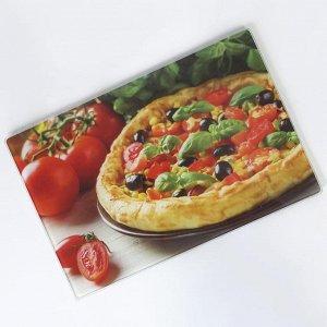 """RD0053-ST Доска разделочная стеклянная """"Пицца"""" 20*30 см (24)"""