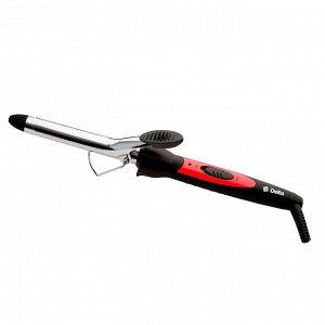 Щипцы для волос DELTA DL-0623 черный с красным, d 19мм (24) (РОССИЯ)