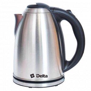 Чайник DELTA DL-1032  (12) нерж.,: 2000 Вт, 2 л (РОССИЯ)