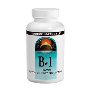 Source Naturals, Витамин B-1, тиамин, 100 мг, 100 таблеток