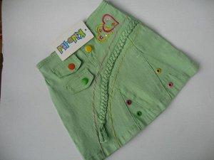 43. Юбка джинсовая салатовая Артикул: П-69