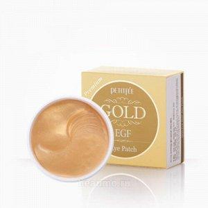 Petitfee Premium Gold & EGF Hydrogel  Eye Patch Антивозрастные гидрогелевые патчи
