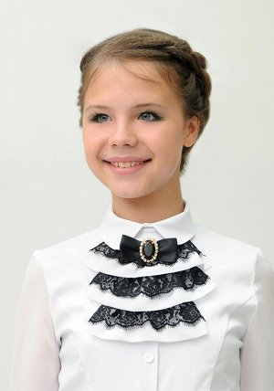 Блузка белая+манишка