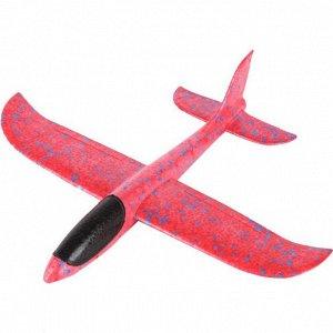 Самолет-аэроплан, светящийся красный