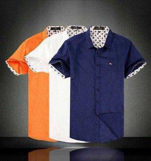 Рубашка Рубашка брендовая 100%лен Цвет оранжевый !