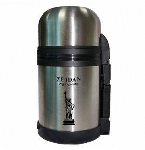 Термос ZEIDAN Термос, объем - 800мл  Корпус и колба изготовлены из высококачественной нержавеющей стали 18/10 Вакуумная технология Универсальное горлышко: узкое/широкое Идеален как для хранения напитк