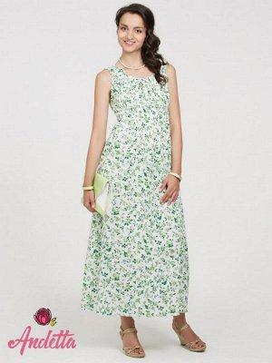 Платье зеленые розы