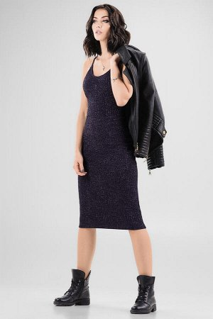 Платье 2647.98 темно-синее