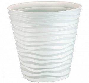 Кашпо Кашпо  8,5л Д25,5см [ДЮНА] БЕЛЫЙ. Кашпо среднего объема универсально. Подойдет для крупных и средних растений, для домашних и уличных цветов. Полиэтилен отличается особой прочностью, морозоустой