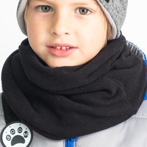 Снуд-Шарф для мальчика, черный