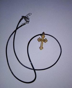 НЕТ!!! Крестик с надписью - JERUSALEM из оливкового дерева на веревочке