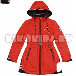Красное д/с пальто. Тёпленькое.
