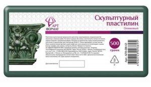 Пластилин скульптурный 500гр. оливковый AF11-011-12 ARTформат {Россия}