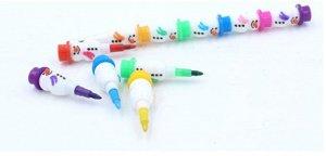 """Цветные карандаши """"Снеговики"""""""
