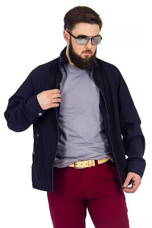 Куртка лето чёрно-синяя