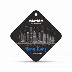 """Ароматизатор подвес. сити """"Yammy"""" картон с пропиткой Квадрат """"Hong Kong"""" (1/200)"""