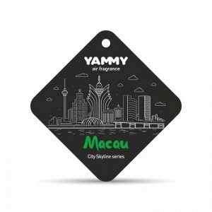"""Ароматизатор подвес. сити """"Yammy"""" картон с пропиткой Квадрат """"Macau"""""""