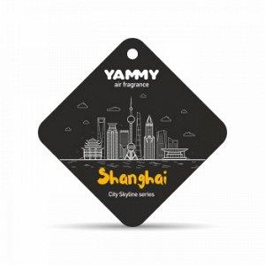 """Ароматизатор подвес. сити """"Yammy"""" картон с пропиткой Квадрат """"Shanghai"""""""