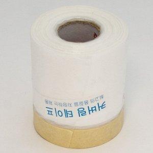 """Лента малярная """"Корея"""" с полиэтилен. пленкой 400mm -18м"""