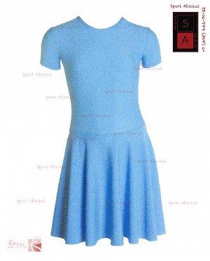 Рейтинговое платье Р 30-011 ПА голубой