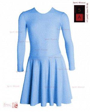 Рейтинговое платье Р 39-011 ПА голубой