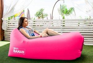 Портативный надувной диван-шезлонг Best-Banan розовый