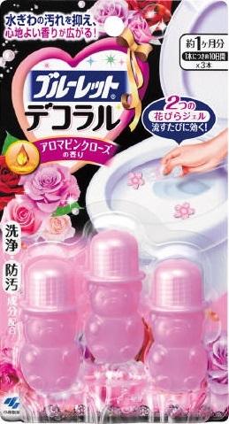 """03869 Гель для унитаза очищающий """"Aroma Pink Rose"""", 3 шт."""