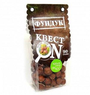 Фундук КВЕСТ ON очищенный пакет 90гр