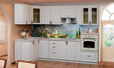 Марибель - 35  Мебель в Рассрочку  — Кухня модульная с фасадами Веста Глянец — Гарнитуры
