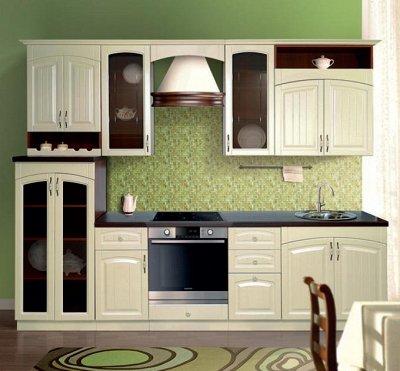 Марибель - 35  Мебель в Рассрочку  — Кухня модульная с фасадами Кантри Матовый — Гарнитуры